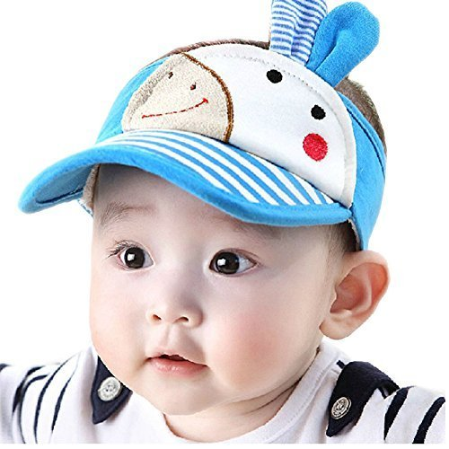 Baby Sun Protection Hat Infant Cap Toddler Without Top 9-36Months(Blue)
