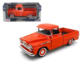 1958 Chevrolet Apache Fleetside Pickup Truck Orange 1/24 Diecast Model Car by Mo - $34.99