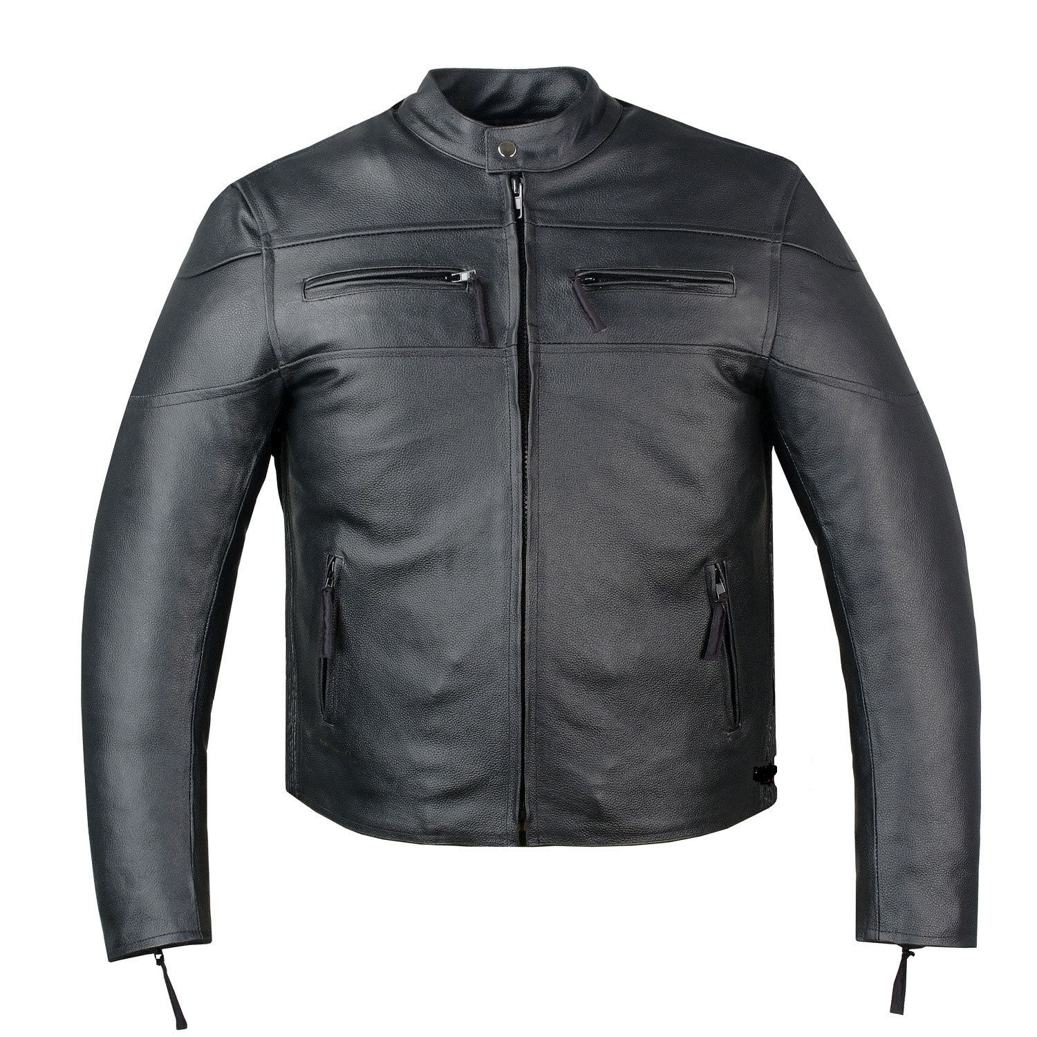 New Handmade Men's Armor Touring Motorcycle Leather Cruiser Stretchable Jacket B, used for sale  USA