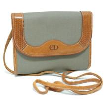 CHRISTIAN DIOR PVC Leather Shoulder Bag Gray Auth ar946 - $99.00