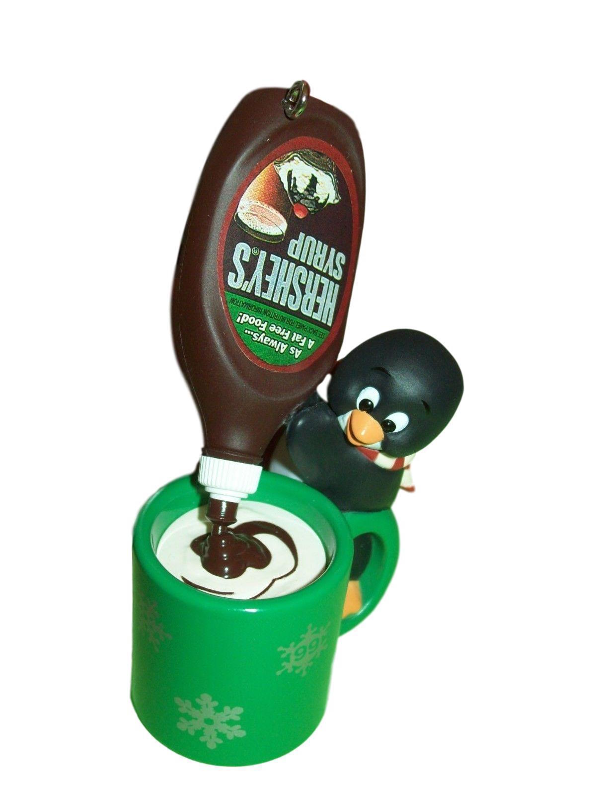 Primary image for Hallmark 1999 Cocoa Break Colorway Repaint Hersheys Syrup Green Mug Ornament