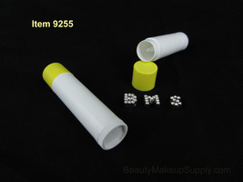 10 Lip Balm Tubes Yellow Cap Empty DIY Beauty Containers 0.15 oz #9225 - $9.95
