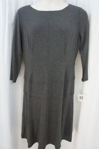 Anne Klein Dress Sz 10 Heather Grey A Line Viscose Jersey Casual Busines... - $69.26