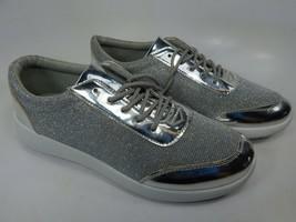 H2k Argento con Glitter Taglia Us 8 M (B) Eu 39 Donna Sneaker Alla Moda