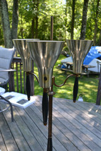Mid Century Space age  Cone shades Brass Torchiere Floor LAMP Retro - $136.12
