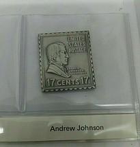 sterling silver Andrew Johnson presidential stamp ingot  - $23.20