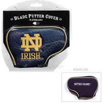 NEW NCAA Notre Dame Fighting Irish Blade Putter Cover by Team Golf Embro... - $19.99