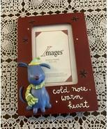 Images Dog Themed Resin Photo Frame Desktop Easel Back 5 x 7 Holds 3 x 4... - $6.49
