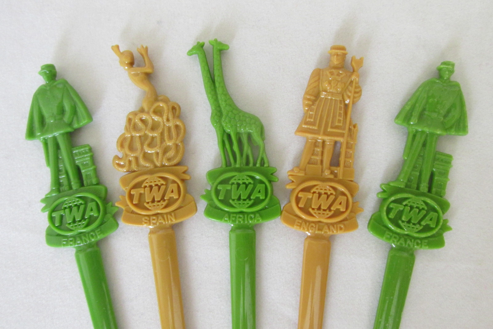 Lot of Vintage Swizzle Sticks from Airlines and Foreign Countries