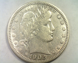 1902 BARBER QUARTER EXTRA FINE / ABOUT UNCIRCULATED XF/AU ORIGINAL COIN ... - $89.00