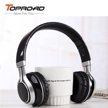 TOPROAD® Wired 3.5mm Foldable Headset Stereo Headphones Microphone MP3 Music - $12.88
