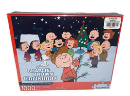 "A Charlie Brown Christmas Jigsaw Puzzle 1,000 Piece 20' x 28"" Aquarius New - $34.64"