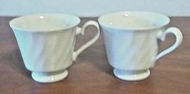 SHEFFIELD Royal Swirl Bone White Porcelain Fine China Coffee Cups Japan - $11.88