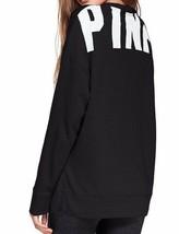 Victoria's Secret PINK Side-Slit Crew Black NIP - $44.64