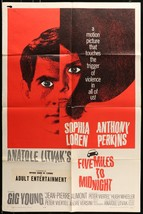 Five Miles to Midnight (1962)  - original movie poster - Anthony Perkins - $28.04