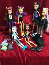 MONSTER HIGH 6 Dolls lot w/stands CLAWDEEN, FRANKIE.. All in EUC from co... - $79.19
