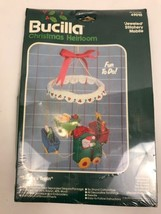 Baby Mobile Kit Felt Sequin Beaded Bucilla Christmas Santa's Train 49010 - $24.99