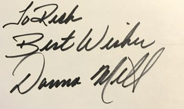 Donna Mills Autographed Hand Signed 3x5 Index Card Knots Landing w/COA To Rick - $14.99