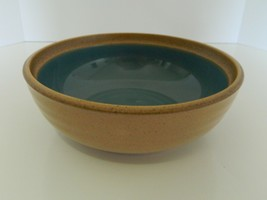 Noritake Stoneware Coupe Cereal Bowl Madera Spruce Pattern Blue Green 8474 - $14.84