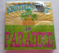 Another Day in Paradise Paper Cocktail Napkins 3 ply 1 Pack 20 napkins - $7.28