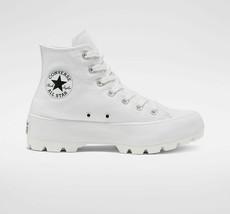 Femmes Converse Chuck Tailleur Tout Étoile Hi Crantée Blanc Neuf Semelle Baskets - $179.43+
