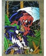 Stan Lee + Todd McFarlane Hand Signed Photo COA Spiderman Venom - $300.00