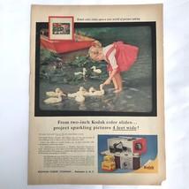 1957 Kodak Kodachrome Film Vintage Print Ad Pony Camera Little Girl Ektachrome - $14.25