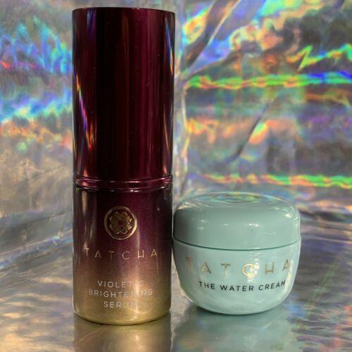 Tatcha 10mL Violet C Brightening Serum & Water Cream 10mL
