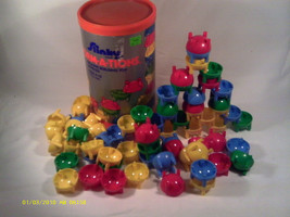 (Q2) VINTAGE SLINKY FORMATIONS CREATIVE BUILDING TOY 68 PIECES  STOCK NO... - $264.00
