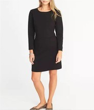 NEW Old Navy Womens Ponte-Knit Sheath Dress, Long Sleeve Black Dress, XL - $565,02 MXN