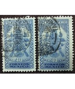 Two 1934 Mexico 40 Centavos Stamps  - $0.99