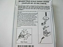 Micro-Trains Stock #00122300 True -Scale Brown Short Shank Coupler  (1300-B) (N) image 3