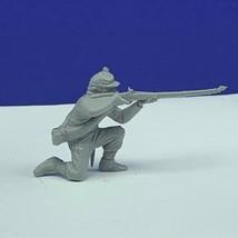 Louis Marx civil war toy soldier gray south confederate vtg figure kneel... - $16.78