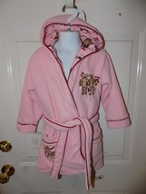 Nick & Nora Pink Hooded Sock Monkey Attached Belt Size 2T Girl's EUC - $20.25