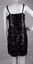 Express women's dress sequin sleeveless black party dress size M image 4