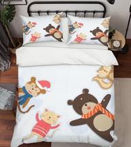 3D Animals Doll 26 Bed Pillowcases Quilt Duvet Single Queen King US Lemon - $102.84+