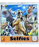 Selfies Jigsaw Puzzle 550 Piece Safari Animals Funny Faces Made In USA Ceaco NEW - $13.65