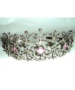 chanvanworld Rose Cut Diamond Tiara 925 Sterling Silver Vintage Style We... - $1,157.31