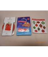 New lot Hallmark Christmas Stickers Spiral Tissue bag filler 3-D puzzle ... - $5.94