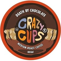 Crazy Cups DECAF Death By Chocolate Coffee 22 to 110 Keurig K cup Pick Any Size - $25.98+