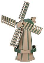 6½ FOOT JUMBO POLY WINDMILL - Weatherwood & Green Garden Weathervane Ami... - $916.11 CAD