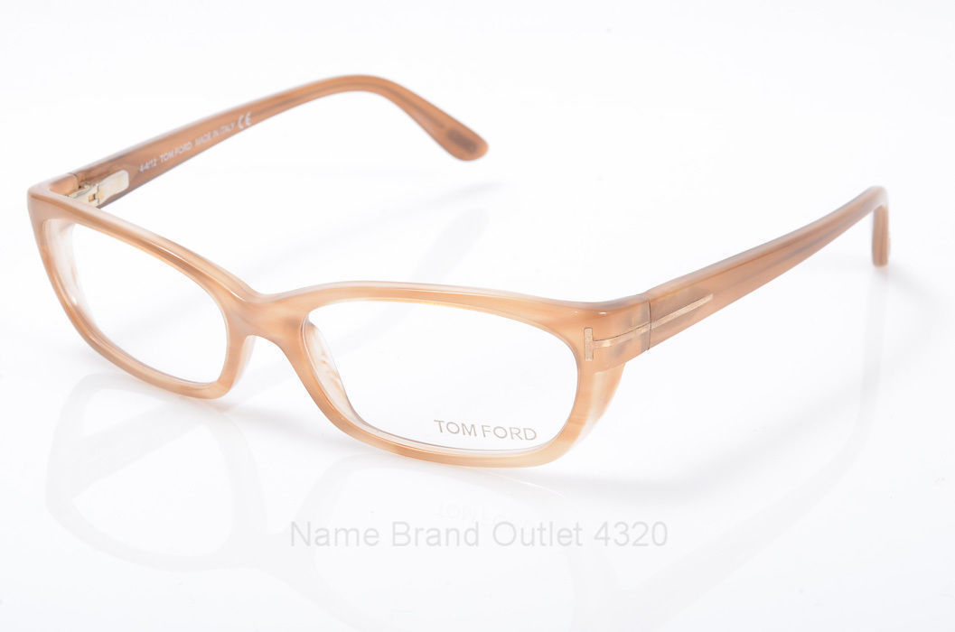 New Tom Ford Eyeglasses TF5230 083 light brown rectangular frame demo Lenses