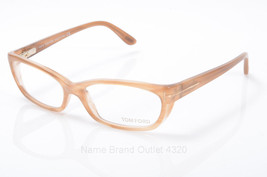 New Tom Ford Eyeglasses TF5230 083 light brown rectangular frame demo Le... - $108.89