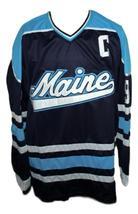 Any Name Number Maine Paul Kariya Hockey Jersey New Navy Blue image 4