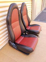 00-05 Toyota MR2 Spyder Seats L&R Reupholstered W/ Tracks image 4