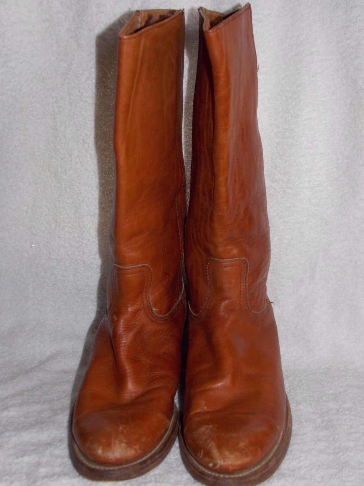 Frye 9K21032 CAMPUS Leather Brown Pull On Boots 8.5D Used