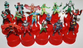 Masked Rider Kamen Bottle Cap Figure Set of 17 2002 Series Bandai - $53.10