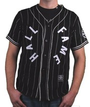 Hall Of Fame Black House Wool Blend Knit Button Up Baseball Jersey Shirt image 1