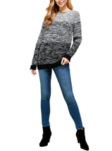 Women's Oversized Long Sleeve Colorful Chunky Knitted Casual Pullover Sweater image 4