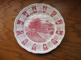 """Alfred Meakin Zodiac Date Plate Pink  9"""" """" God Bless our house Throughou... - $27.99"""